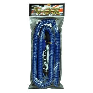 【商品コード:16015927373】ボックス製ギターシールド、カールコードタイプ、カラーはブルー