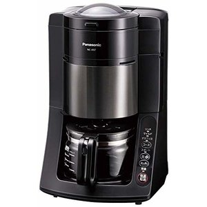 パナソニック 沸騰浄水コーヒーメーカー 全自動タイプ デカフェ豆コース搭載 ブラック NC-A57-...