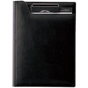 【商品コード:16016190199】ミシン目付きレポート用紙50枚付き 再生皮革製 名刺ポケット、...