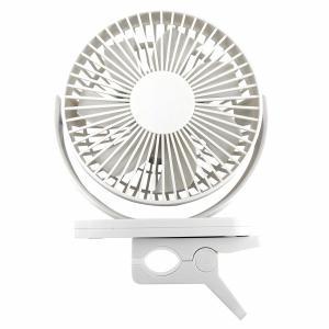 トップランド 扇風機 小型 360度回転 卓上 クリップ 両用 部屋干し ホワイト GD-12WT ...