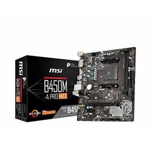 MSI B450M-A PRO MAX M-ATX マザーボード (AMD B450チップセット搭載...