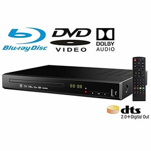ブルーレイプレーヤー DVDプレーヤー 据え置き 高画質 HDMI端子搭載 SDカード BD対応 日本語説明書 リモコン付き trafstore
