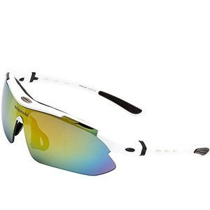 (HIGASHI 高性能 偏光レンズ 3枚 + レインボーミラーレンズ 1枚 スポーツサングラス 超...