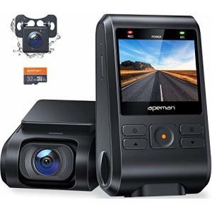 APEMAN ドライブレコーダー 前後カメラ 32Gカード付き 200万画素 IPSパネル 1080...