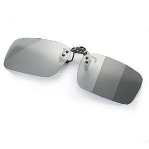調光 クリップオン サングラス めがねの上から 変色 偏光 メガネ 取り付け 偏光サングラス 跳ね上げ式 ドライ|trafstore