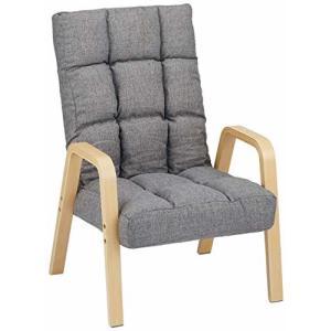 アイリスオーヤマ 椅子 ウッドアーム チェア Mサイズ グレー WAC-M