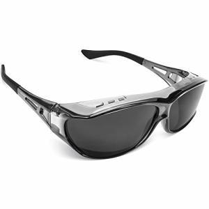 TINHAO 偏光 オーバーグラス オーバーサングラス 偏光サングラス メガネの上からかけられるオーバーグラス レ|trafstore