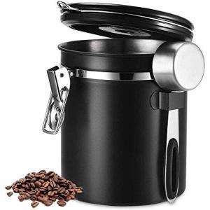 HAILIX コーヒー キャニスター コーヒー豆 保存容器 タイムロッキングコンテナ 304ステンレス 真空密封 コーヒ|trafstore