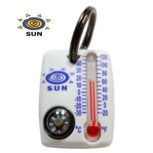 サンカンパニー ZipperSnapper2 コンパス&サーモメーター 方位磁石 温度計 キーホルダー 防災 ジッパースナッパー2 Sun Company|tramsusa