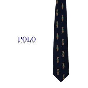 Polo Ralph Lauren ポロベアー総柄ネクタイ POLO BEAR ポロラルフローレン プレゼント|tramsusa