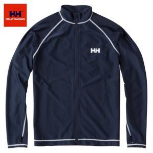 【送料200円選択可】HELLY HANSEN L/S Full-zip Rashguard HE81715 ロングスリーブフルジップラッシュガード(ユニセックス) ヘリーハンセン|tramsusa
