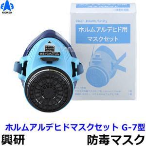 興研 防毒マスク ホルムアルデヒドマスクセット G-7型 ガスマスク/作業/サカイ式/吸収缶