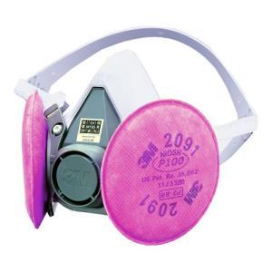 3M/スリーエム 取替え式防塵マスク 6000/2091-RL3 粉塵/作業/医療用