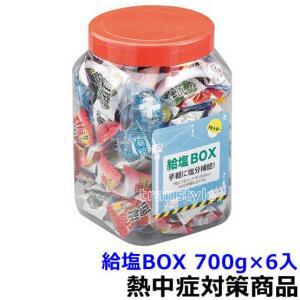 熱中症対策商品 給塩ボックス 700g/1ボトル×6ボトル入 3種類の塩飴と塩タブレットを1つのボト...