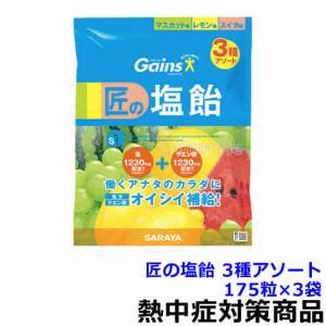 熱中飴 匠の塩飴 3種アソート 175粒×3袋 熱中症対策/...