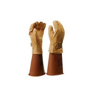 保護革手袋(マジックテープ付)耐電/電気作業 ヨツギ|trans-style