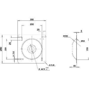 37〜60型 大型液晶/プラズマテレビ用天吊り金具(黒) CPLB101M−PRO65B|transaudio|04