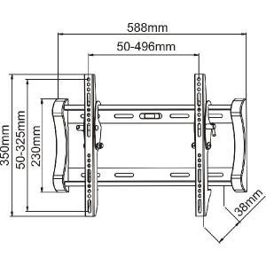 23〜37型 液晶、プラズマTV用壁掛け金具 PLB123S (薄型角度可変タイプ) テレビ用壁掛け金具 テレビ壁掛け|transaudio|03