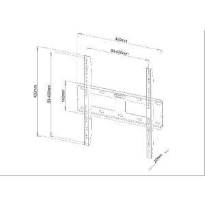 23〜40型 薄型液晶TV用壁掛け金具 PLB132M テレビ用壁掛け金具 テレビ壁掛け|transaudio|02