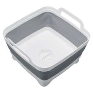 排水できる折りたたみ洗い桶。