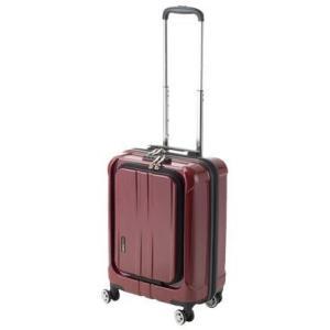 f59d40d7dc 協和 ACTUS(アクタス) 機内持込対応 スーツケース フロントオープン ポライト Sサイズ ACT-005  レッドヘアライン・74-20343前開き TSA 取りやすい
