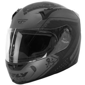 FLY Racing REVOLT FS PATRIOT ストリートヘルメット マットグレー/ブラック|traumauto