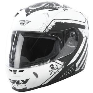 FLY Racing REVOLT FS PATRIOT ストリートヘルメット ホワイト/ブラック|traumauto