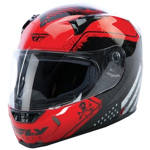FLY Racing REVOLT FS PATRIOT ストリートヘルメット レッド/ブラック|traumauto