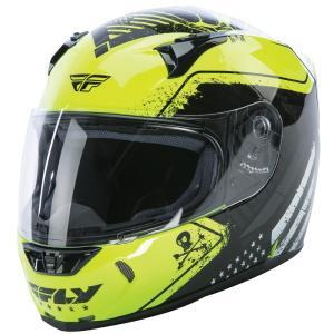 FLY Racing REVOLT FS PATRIOT ストリートヘルメット イエロー/ブラック|traumauto