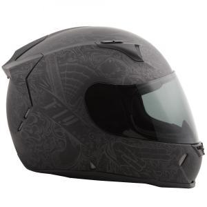 FLY Racing REVOLT FS INK'N NEEEDLE ストリートヘルメット マットブラック|traumauto