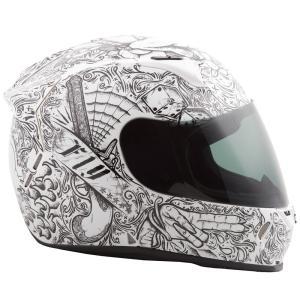 FLY Racing REVOLT FS INK'N NEEEDLE ストリートヘルメット ホワイト/ブラック|traumauto