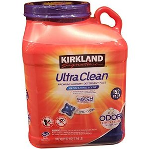 圧倒的コスパ!  5ヶ月分(152回分)の小分け液体洗剤 コストコ カークランドシグネチャー ウルトラクリーンランドリーパック フローラルの香り 3.6kg × 1個|travel-depart