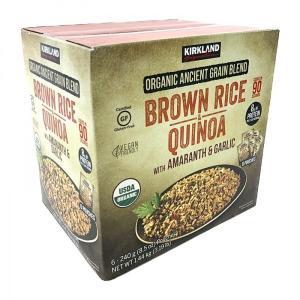 カークランド オーガニックキヌア&ブラウンライス 240g×6 KS Organic Quinoa&...