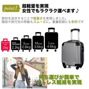 超軽量スーツケース コインロッカーサイズ 10...の詳細画像2