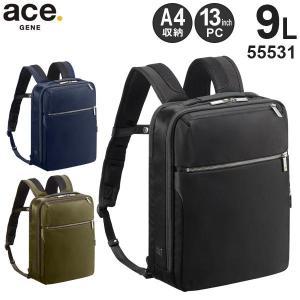 ace.GENE LABEL エースジーン ガジェタブル 薄型ビジネスリュック (9L) A4収納 13インチPC対応 55531|travel-goods-toko