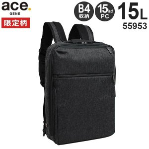 ace.GENE LABEL エースジーン ガジェタブルHRB ヘリンボーン柄 ビジネスリュック (15L) B4収納 15インチPC収納 55953|travel-goods-toko