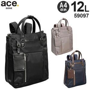 ace.GENE LABEL ビエナ A4サイズリュック (16L) レディースビジネスバッグ A4収納 2気室 59097 travel-goods-toko