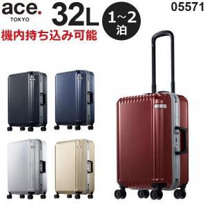 ace.TOKYO LABEL パリセイドF (32L) フレームタイプ スーツケース 2泊用 機内持ち込み可能 05571|travel-goods-toko