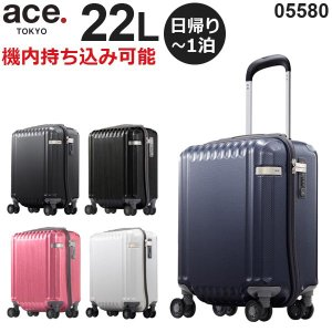 ace.TOKYO LABEL パリセイドZ (22L) ファスナータイプ スーツケース コインロッカー収納サイズ 機内持ち込み可能 05580|travel-goods-toko