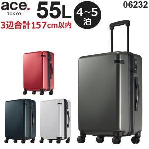 ace.TOKYO LABEL コーナーストーンZ (55L) ファスナータイプ スーツケース 4〜5泊用 手荷物預け入れ無料規定内 06232|travel-goods-toko