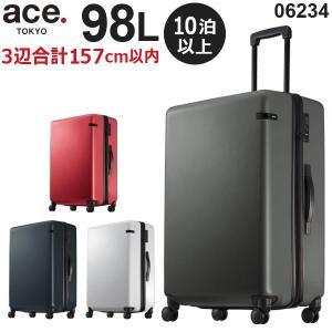 ace.TOKYO LABEL コーナーストーンZ (98L) ファスナータイプ スーツケース 10泊〜長期 手荷物預け入れ無料規定内 06234|travel-goods-toko