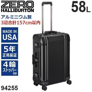 ゼロハリバートン Geo Aluminum 3.0 Trolley 24inch (58L) 94255-01 アルミニウム製 スーツケース 4輪 ブラック 手荷物預け入れ無料規定内|travel-goods-toko