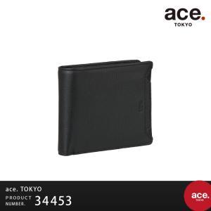 2つ折り財布 ace.TOKYO エーストーキョー ウォールコート サイフ ウォレット 牛革キップスムース メンズ ユニセックス AE-34453|travelworld