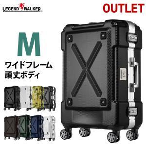 スーツケース 中型 軽量 キャリーバッグ Mサイズ アウトドア フレーム アウトレット B-6302-62 アウトレット B-6302-62|travelworld