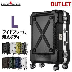 スーツケース 大型 軽量 キャリーバッグ Lサイズ アウトドア フレーム アウトレット B-6302-69 アウトレット B-6302-69|travelworld