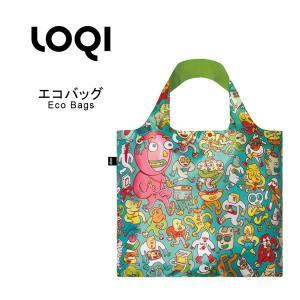 ■商品名■ LOQI エコバッグ(収納ポーチ付き) ローキー バッグ bag セレブ ブランド (l...