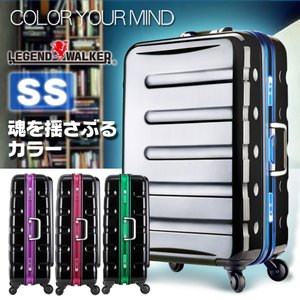 スーツケース 機内持ち込み 小型 軽量 キャリーバッグ トランク SSサイズ スーツケース レジェンドウォーカー W1-6016-47 tabi|travelworld