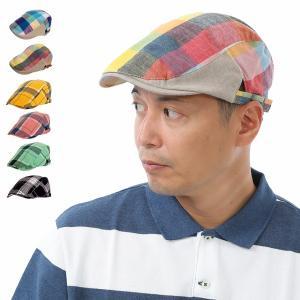 帽子 メンズ ハンチング チェック マドラスチェック レディース 大きめ 大きい 小さめ 小さい サ...