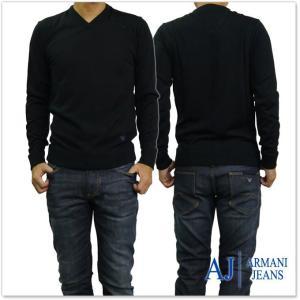 ARMANI JEANS アルマーニジーンズ メンズVネックセーター 6Y6MC7 6M21Z ブラック tre-style