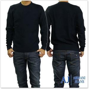 ARMANI JEANS アルマーニジーンズ メンズクルーネックセーター 6Y6MD1 6MFKZ ダークネイビー tre-style